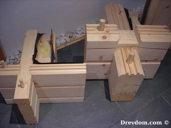Drevdom © - Technologie des troncs massifs ou ossature bois / canadien